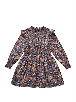 Louise Misha Suzie Dress (Charcoal Bohemian Flowers)