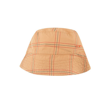 Tiny Cottons Check Bucket Hat (Toffee/Red)