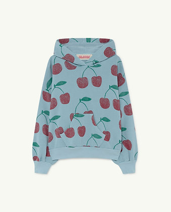The Animals Observatory Beaver Kids Sweatshirt (Soft Blue Cherries)
