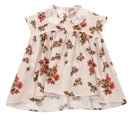 Frou Frou Stella Blouse (Rose Allover)