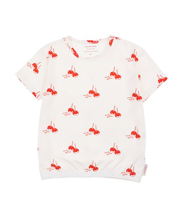 Tiny Cottons 'CANDY APPLES' Tee (Off-white/Red)