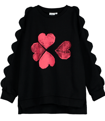 Beau Loves Scallop Sweater (Black)