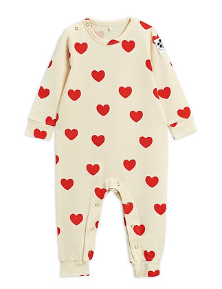 Mini Rodini Hearts Jumpsuit (Offwhite)