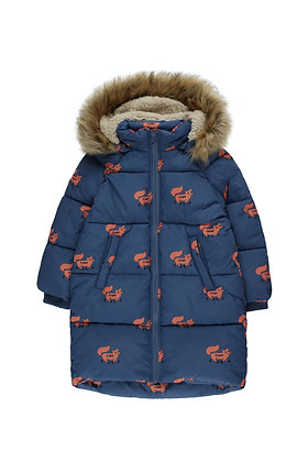 Tiny Cottons 'Foxes' Padded Jacket (Light Navy/Sienna)