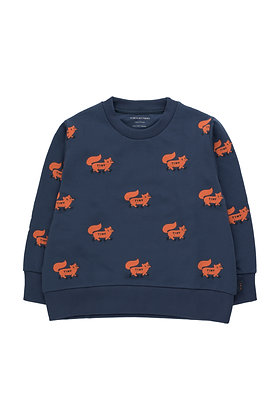 Tiny Cottons 'Foxes' Sweatshirt (Light Navy/Sienna)