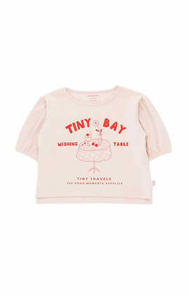 Tiny Cottons Wishing Table Blouse (Pastel Pink/Red)