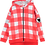 Thumbnail: Beau Loves Zip Square Hoodie (Red/Gingham)