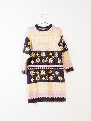 Fish & Kids Patchwork Flower Dress (Multicolor)
