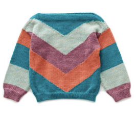 Oeuf Chevron Sweater (Teal/Multi)