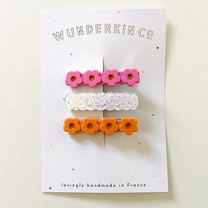 Wunderkin Co. Hair Clip Set 3