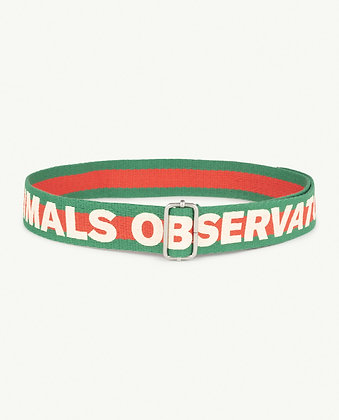 The Animals Observatory Stripes Lizard Kids Belt (Red The Animals)