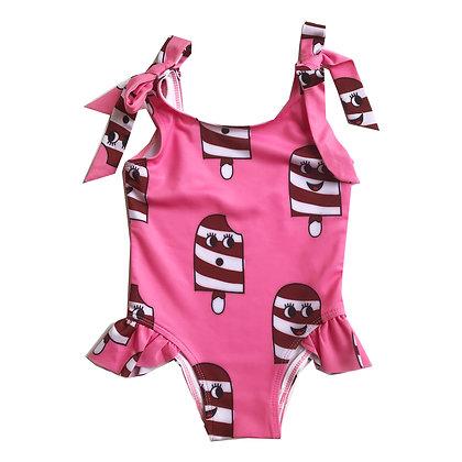 Hugo Loves Tiki Bow Swimsuit - Pink Ice Cream