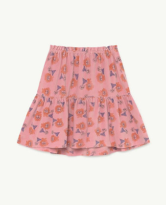 The Animals Observatory Bird Kids Skirt (Pink Lions)