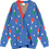 Thumbnail: Beau Loves Ping Pong Knit Cardigan (Red Blue & Green)