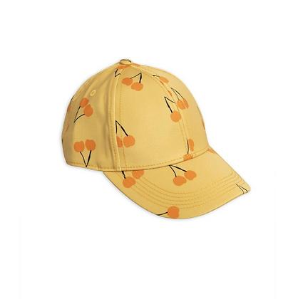 Mini Rodini Cherry Printed Cap (Yellow)