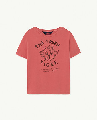 The Animals Observatory Rooster Kids T-Shirt (Red Tiger)