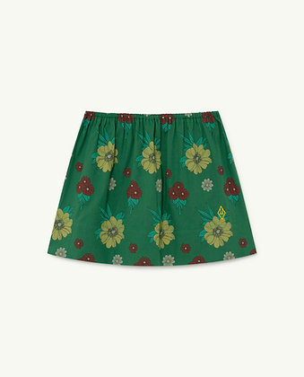 The Animals Observatory Impala Kids Skirt (Green Flowers)