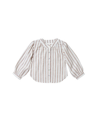 Rylee + Cru Meadow Blouse (Truffle Stripe)