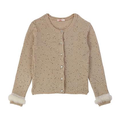 Billieblush Knit Cardigan (Gold)