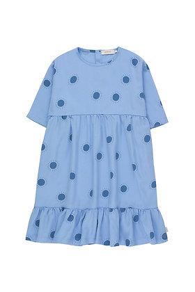 """Tiny Cottons """"Sun"""" Belled Dress (Cerulean Blue/Summer Navy)"""
