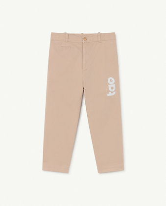 The Animals Observatory Camel Kids Trousers (Soft Pink Logo)