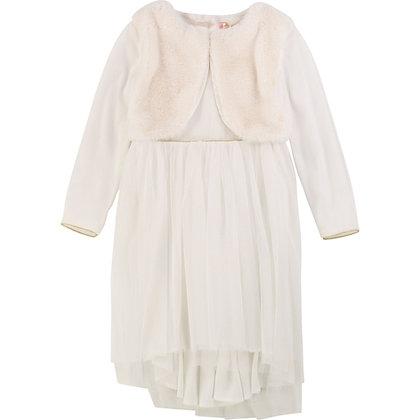 Billieblush Glitter Mesh Dress (Rice)