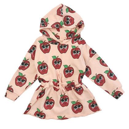 Hugo Loves Tiki Hoodie Sweater Dress (Pink Apples)