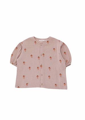 Tiny Cottons Ice Cream Cup Puff Shirt (Dusty Pink/Papaya)