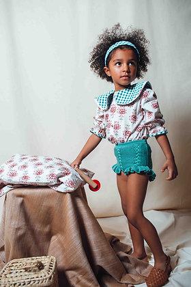 Birinit Petit Green Knit Bloomer Shorts