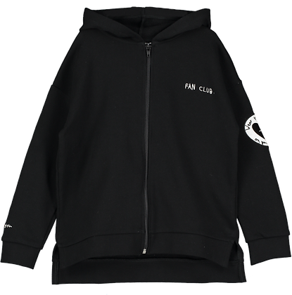 Beau Loves Zip Square 'LOVES' Hoodie (Black)