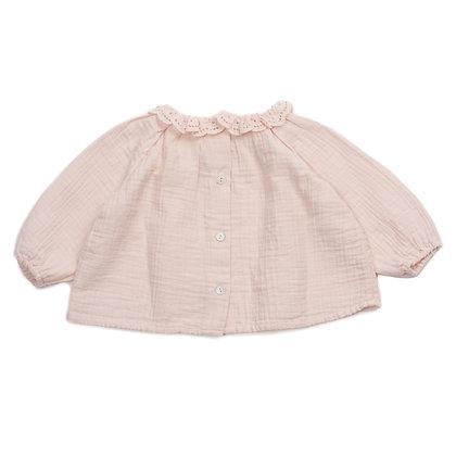 Bonton/Bonbon Broderie Anglaise Baby Blouse (Rose)