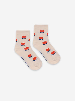 Bobo Choses Red Chocolate Flowers Short Socks