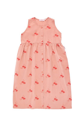 Tiny Cottons 'CANDY APPLES' Long Tank Dress (Terracotta/Red)