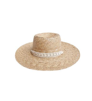 Rylee + Cru Ribbon Wide Brim Hat (Natural)