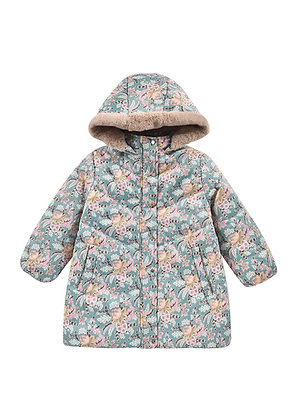 Louise Misha Faustina Puffy Coat (Blue French Flower)