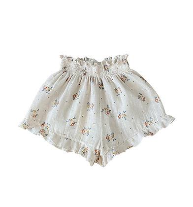 Liilu Pia Smocked Shorts (Summer Blossom)