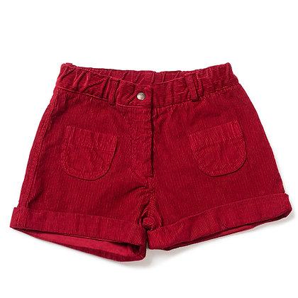Bonton/Bonbon Corduroy Short (Red)