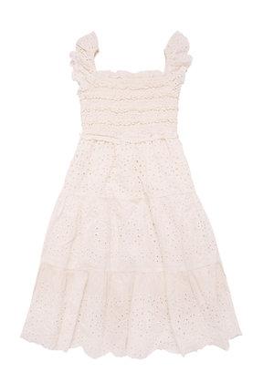The New Society Amelia Dress (Off White)