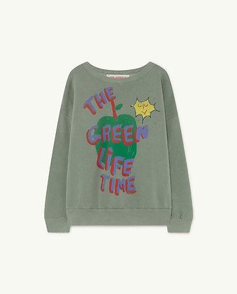 The Animals Observatory Big Bear Kids Sweatshirt (Soft Green Apple)