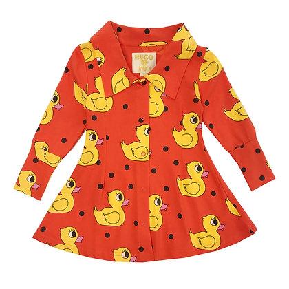 Hugo Loves Tiki Mod Dress (Orange Rubber Ducky)