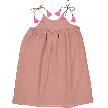 PETITE LUCETTE INGRID DRESS (TERRACOTTA PINK PLUMETIS)