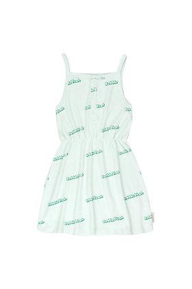 Tiny Cottons 'BUBBLE YEAH' Dress (Light mint/Deep green)