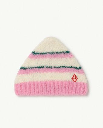 The Animals Observatory Stripes Pony Kids Hat (Pink Logo)