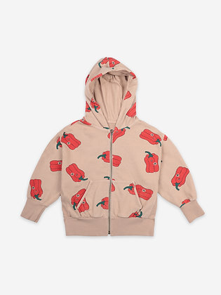 Bobo Choses Vote For Pepper All Over Zipped Hoodie