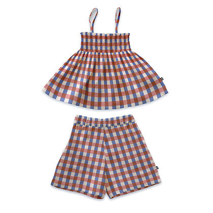 Oeuf Girl Smock Set (Flamingo Pink)