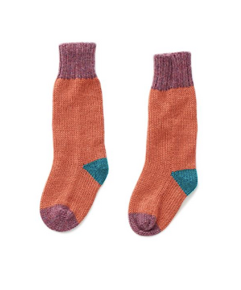 Oeuf Long Socks (Apricot/Mauve)