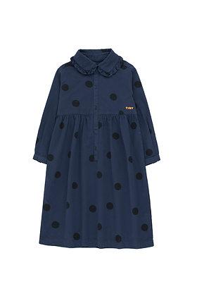 Tiny Cottons 'Big Dots' Dress (Light Navy/Black)