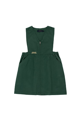 Tiny Cottons 'LW Citizen' V-Neck Dress (Bottle Green)