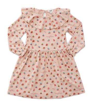 Oeuf Ruffle Collar Dress (Warm Blush/House)