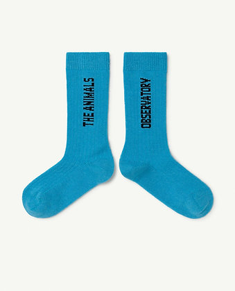 The Animals Observatory Worm Kids Socks (Blue)